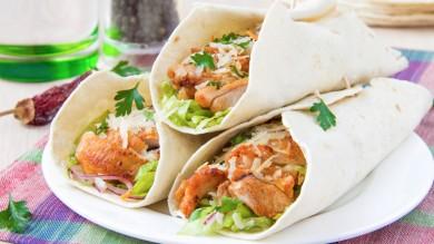 Wraps met kipgyros: recept