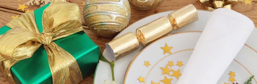 goud tafelversiering