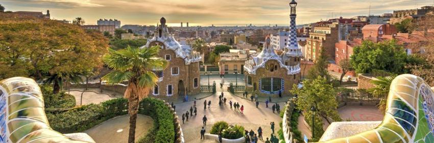De 5 meest gefotografeerde plaatsen in Europa.Park Guell in Barcelona