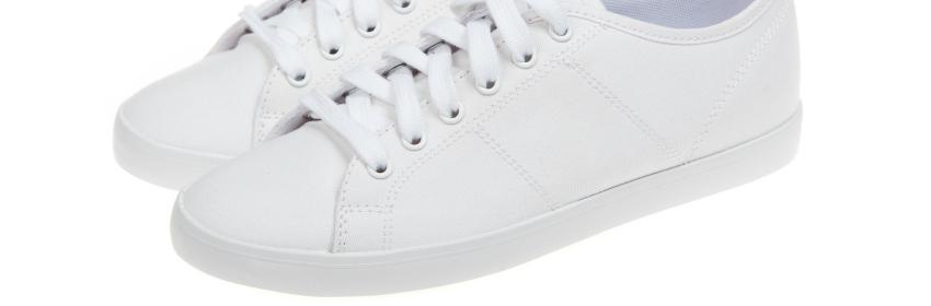 witte sneakers stof