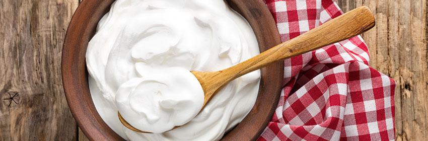Tips-voor-een-verbrande-huid.Yoghurt